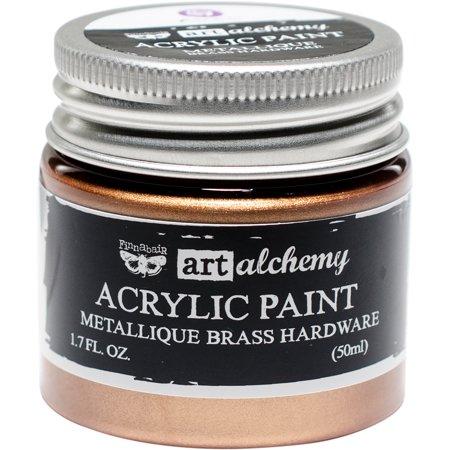 Finnabair Art Alchemy Acrylic Paint 1.7 Fluid Ounces-Metallique Brass Hardware - image 1 de 1