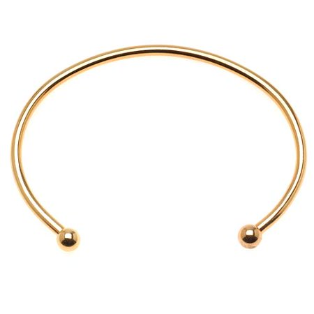 22K Gold Plated Large Bangle Cuff Bracelet For European Style Beads - Screw End (1)