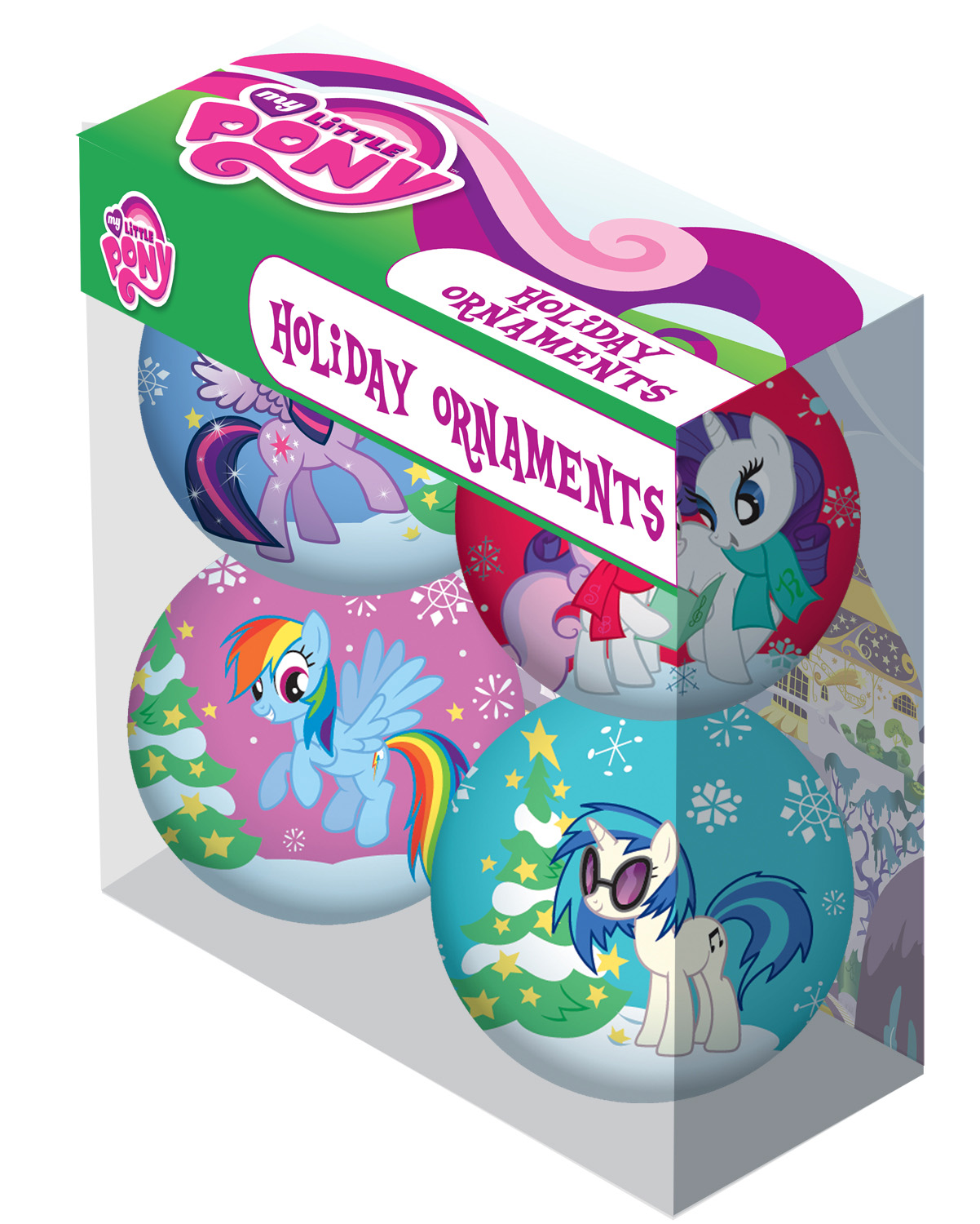 My Little Pony Christmas.My Little Pony Christmas Holiday Ornaments Pack Set