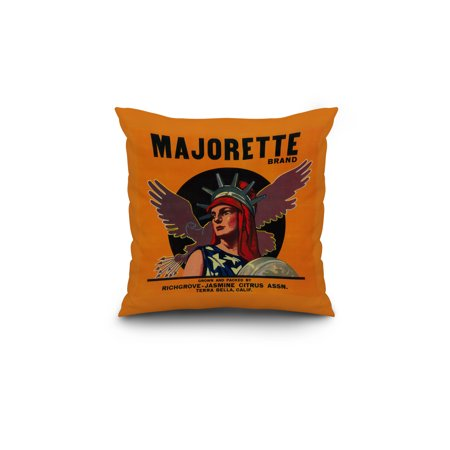 Majorette Orange Label 18x18 Spun Polyester Pillow Custom Border