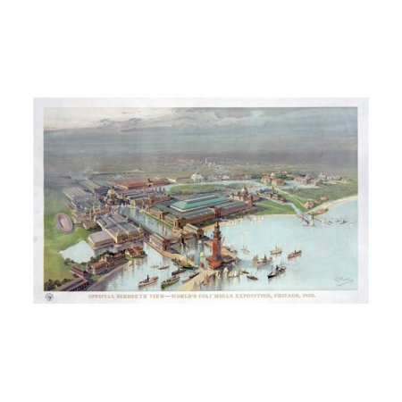(Official Birdseye View. World's Columbian Exposition, Chicago, 1893 Print Wall Art)