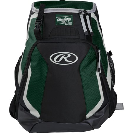 Softball Accessories (Rawlings R500 Baseball Bat Backpack, Dark Green)