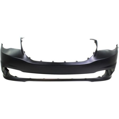 Dodge Caravan Front Bumper Cover (Replacement Top Deal Front Black Bumper Cover For 11-15 Dodge Grand)