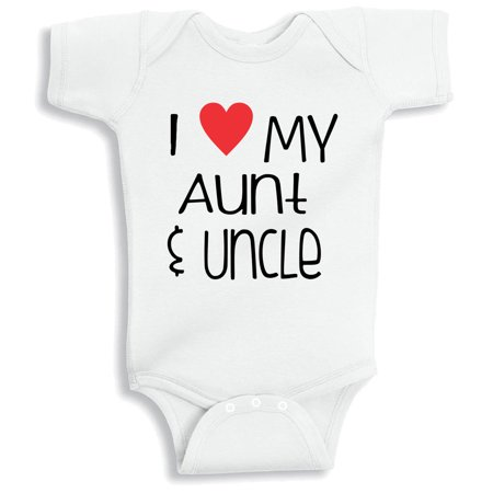 17b4a036324a Lil Shirts I Love MY Aunt And Uncle Baby Bodysuit (3-6 Months) - Walmart.com