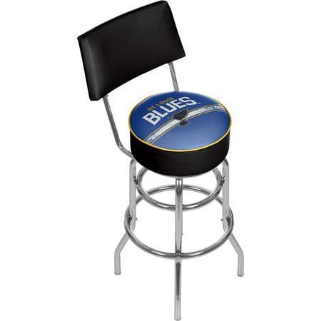 Nhl Swivel Bar Stool With Back St Louis Blues