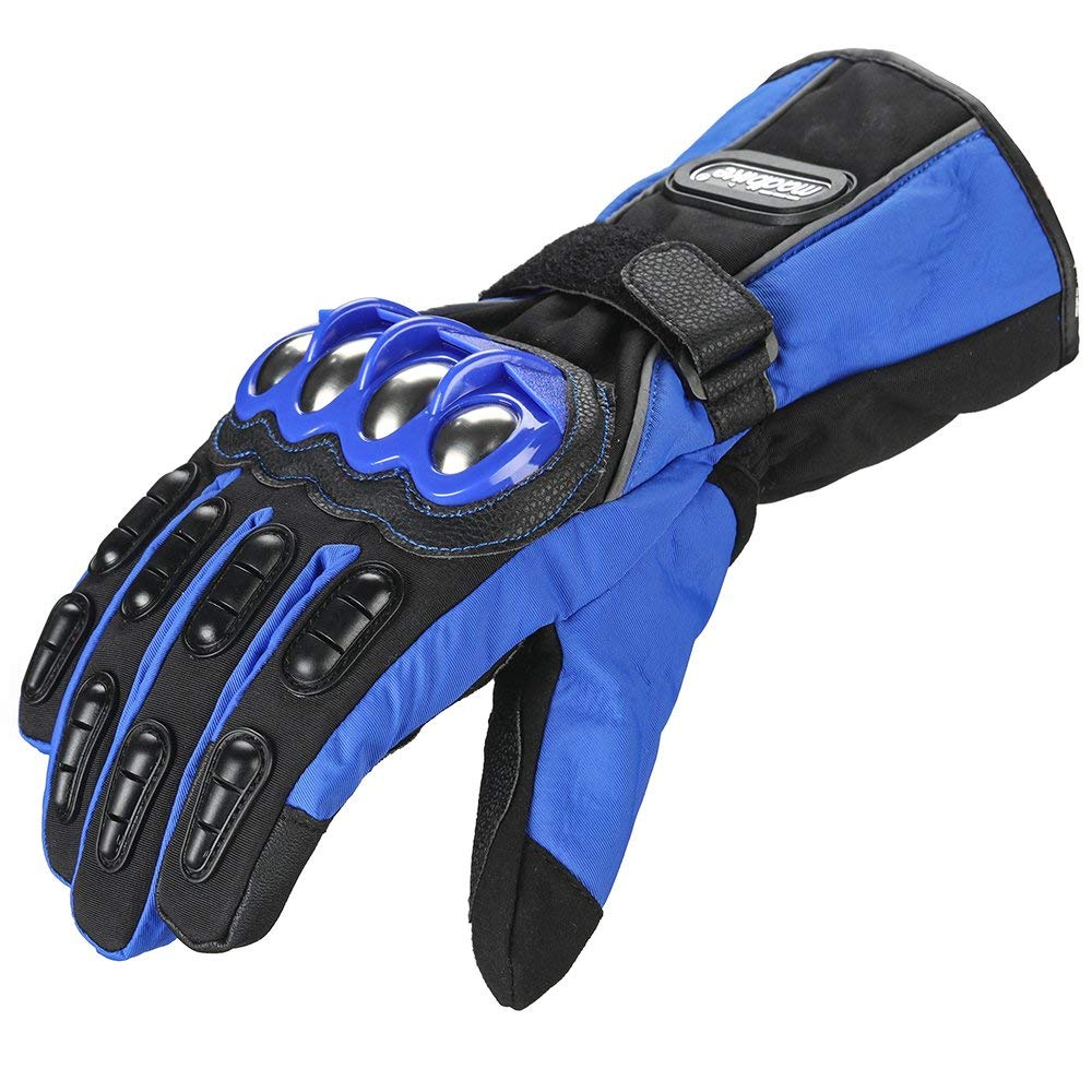 ILM Alloy Steel Knuckle Motorcycle Gloves Motorbike Powersports Racing Gloves Winter for Men and Women