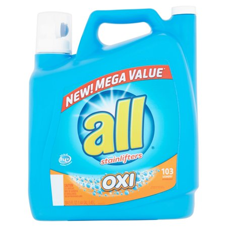 All With Stainlifters Oxi Liquid Laundry Detergent  184 5 Fl Oz