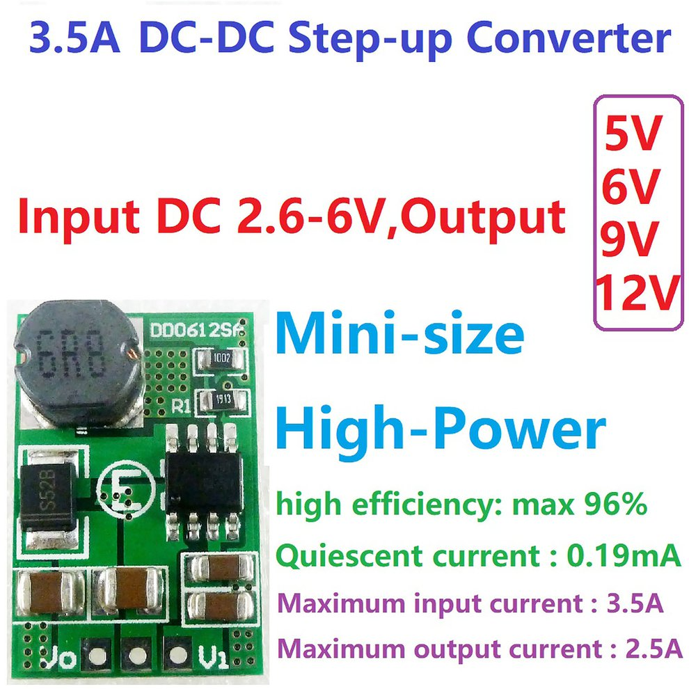 DC-DC Buck Step Down Volt Converter 12V to 3.3V 3.7V 5V 6V 9V Car Power Supply