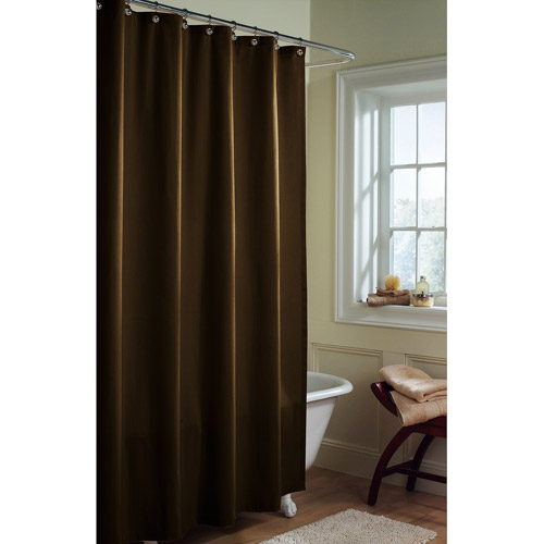 Canopy Microfiber Fabric Shower Curtain Liner, Chocolate Nib