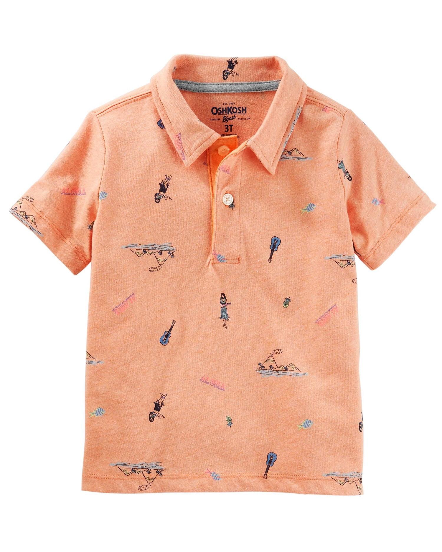 OshKosh B'gosh Little Boys' Luau Jersey Polo
