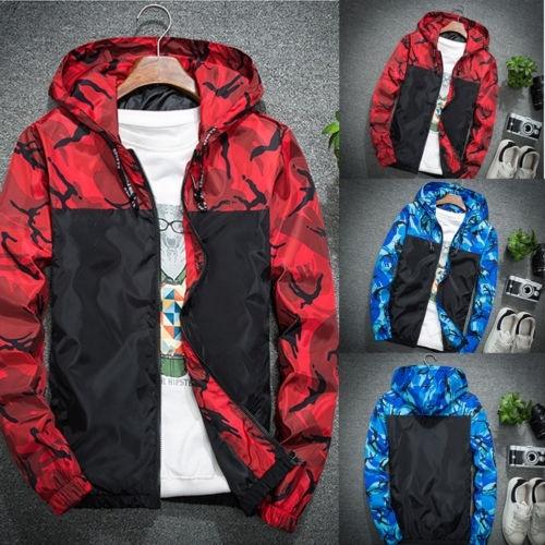 Hot Men Winter Luxury Camouflage Coat Hoodies Jacket Clothing Windbreaker Male Outwear