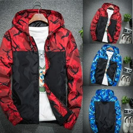 Hot Men Winter Luxury Camouflage Coat Hoodies Jacket Clothing Windbreaker Male (Coaches Hot Jacket)