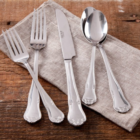 The Pioneer Woman Alex Marie 20 Piece Stainless Steel