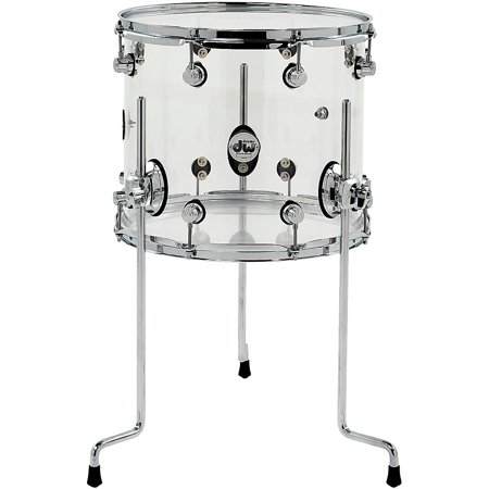 DW Design Series Acrylic Floor Tom with Chrome Hardware 14 x 12 in.