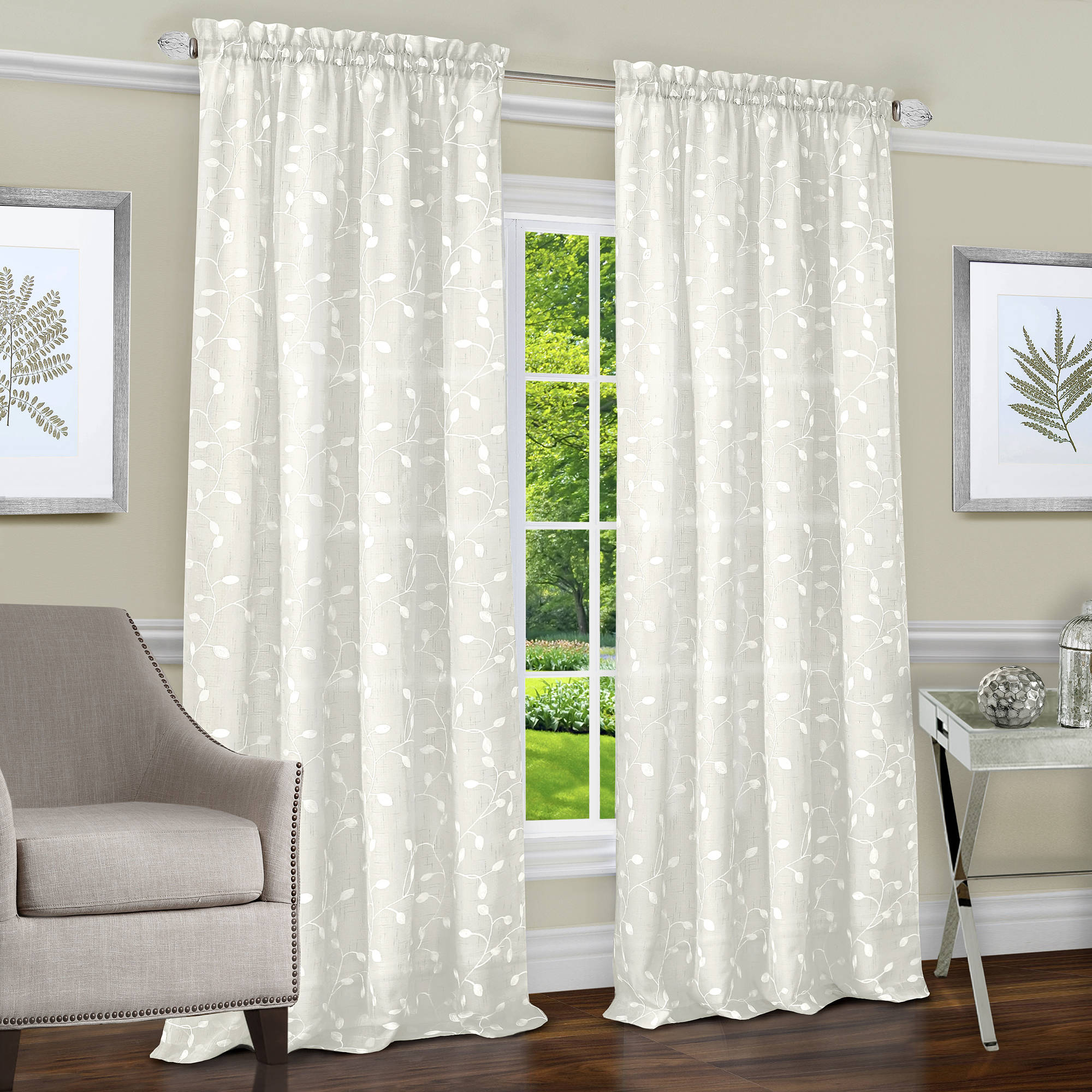 Chloe Rod Pocket Window Curtain Panel by Achim Importing Co. Inc
