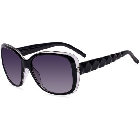 DNA Womens Prescription Sunglasses, A2012 Black ()