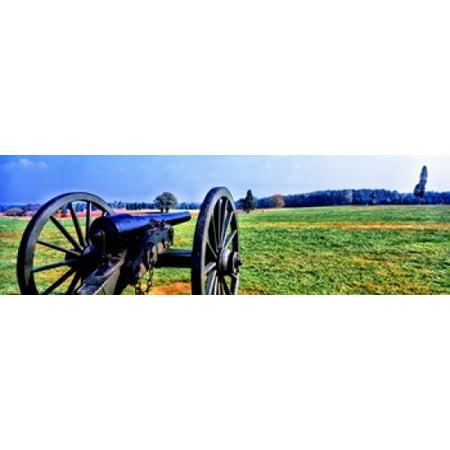 Cannon At Manassas National Battlefield Park Manassas Prince William County Virginia Usa Canvas Art   Panoramic Images  18 X 6