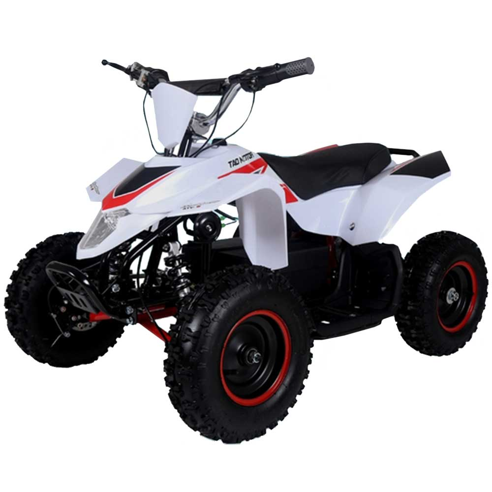 Kids Quad By FamilyGoKarts White/Red E2-500 Electric ATV