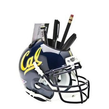 California Golden Bears (Navy) NCAA Football Schutt Mini Helmet Desk Caddy