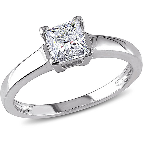 1 Carat T.W. Princess-Cut Certified Diamond 14kt White Gold Solitaire Engagement Ring
