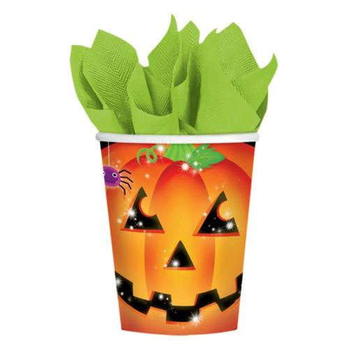 Perfect Pumpkin 9 oz Cups (8 Count) - Halloween Party Supplies