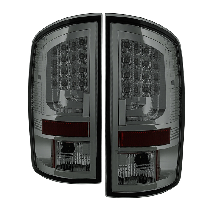 2002 2003 2004 2005 2006 Dodge Ram 150 Black Chrome Smoked Tinted led LED Tail Lights (PAIR)