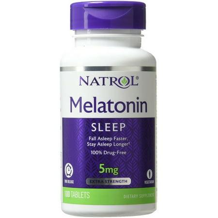 Natrol Melatonin Time Release 5mg Tablets 100 ea (Best Time Release Multivitamin)