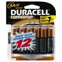 Duracell Coppertop Alkaline Batteries, AA