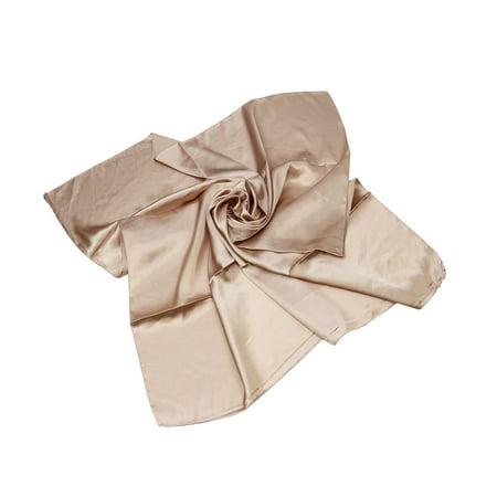 """TrendsBlue Elegant Small Silk Feel Solid Color Satin Square Scarf 20"""""""
