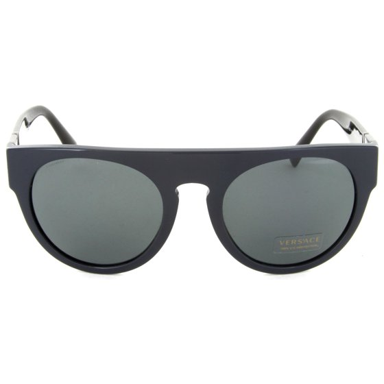 3fc3dcfac7 Versace - Versace VE4333 523087 Blue grey Round Greca Sunglasses ...