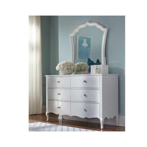 LC Kids Tiffany 6 Drawers Dresser with Mirror