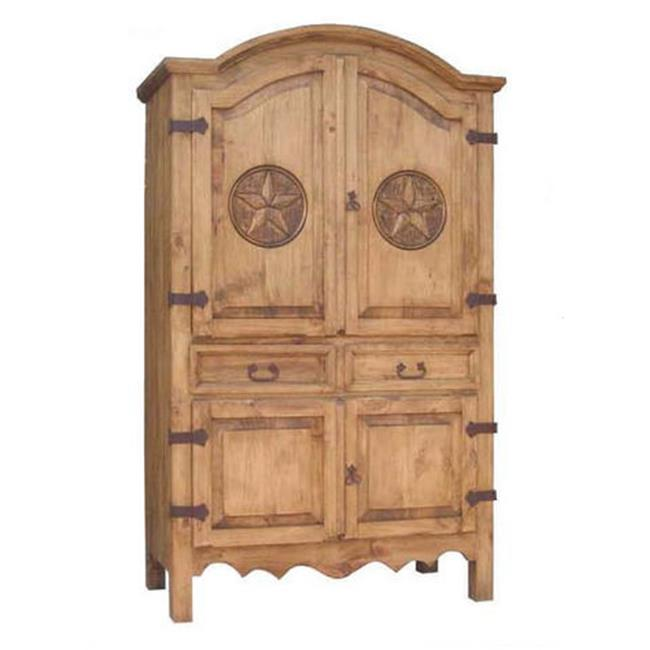 Million Dollar Rustic 01-1-10-13D-TX Sierra Armoire 0.75 In. Star