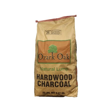 Ozark Oak Premium Natural Hardwood Lump Grill and Smoker Charcoal, 20-Pound Bag