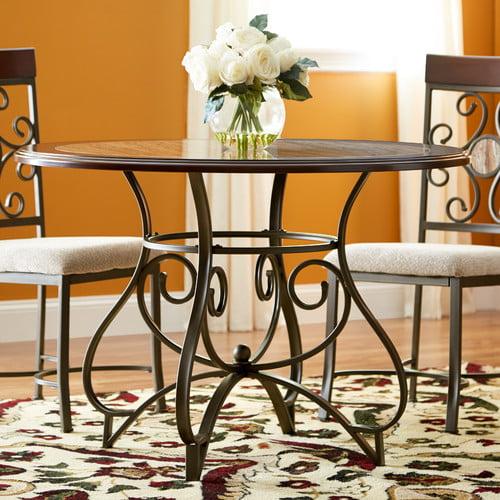Fleur De Lis Living Corinne Metal Dining Table
