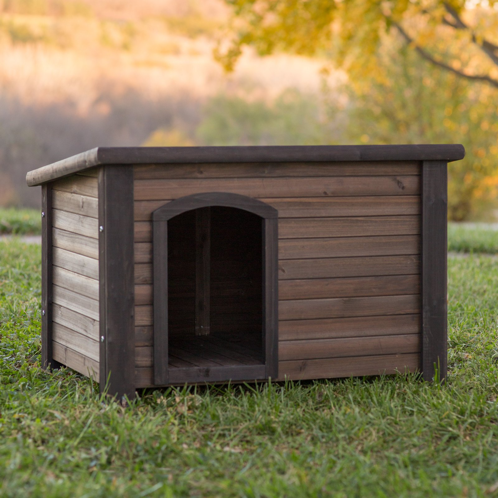Boomer & George Dog House with Stainless Steel Bowls