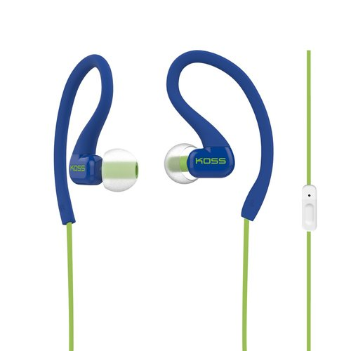 Koss KSC32IB Sportclip Headphones with Mic Blue