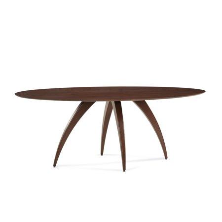 Saloom Furniture Saloom Ella Ellipse Maple Strata Texture Top Custom