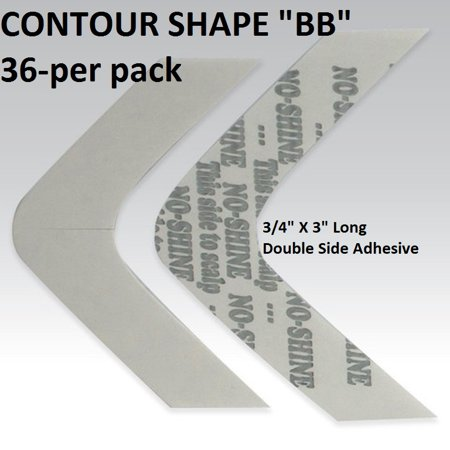 No Shine Tape Contour Shape BB Double Side Adhesive by Walker Tape
