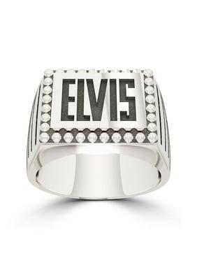 Elvis Presley Large Name Ring In Sterling Silver
