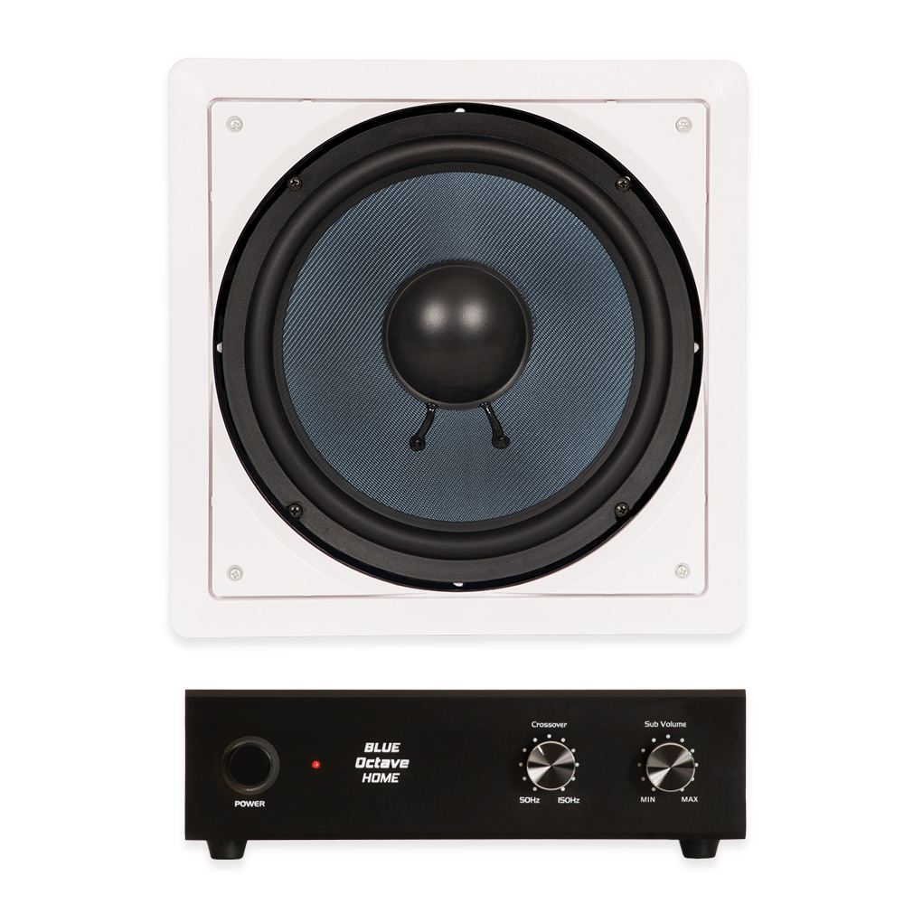 "Blue Octave BDW10 In Wall 10"" Passive Subwoofer Speaker a..."