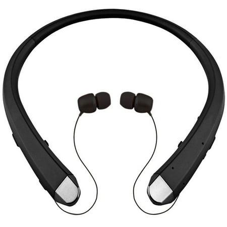 Headset Headphones Earbuds - Wireless Bluetooth 4.0 Headset Sport Stereo Retractable Headphone Earbuds w/ Mic