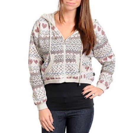 Zip Up Cropped Hooded Sweatshirt