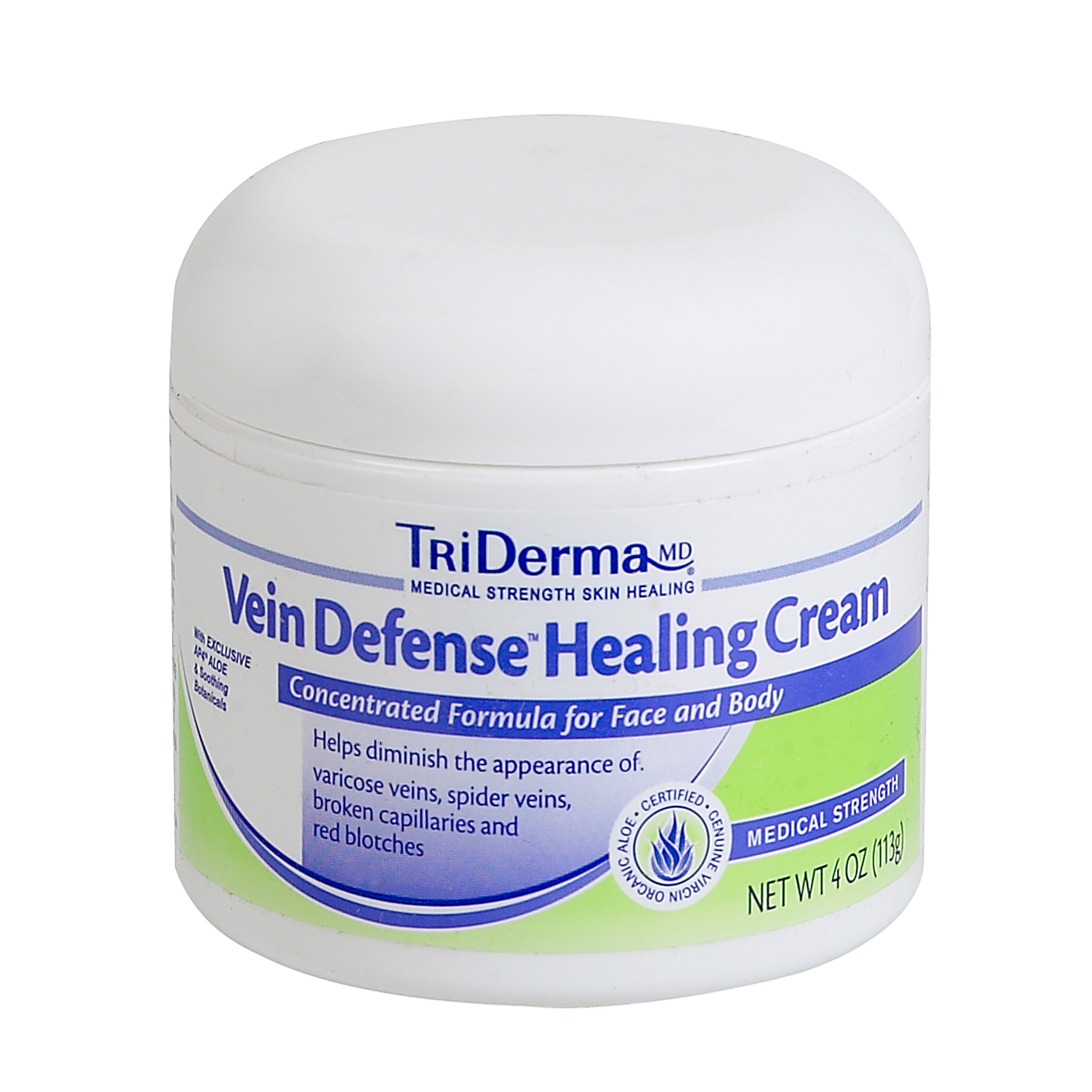 TriDerma® Vein Defense™ Healing Cream Helps Diminish the Appearance of Veins, Red Blotches, & Dark Circles (4 oz)
