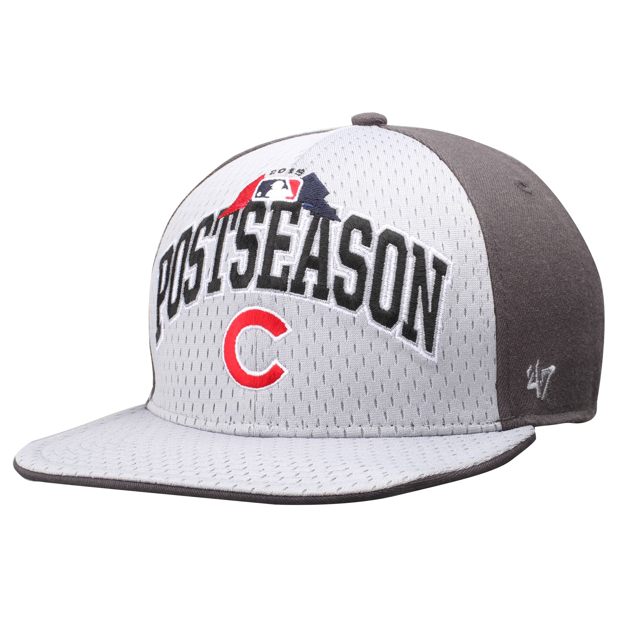 Chicago Cubs '47 2015 MLB Postseason Clincher Captain Hat - White/Gray - OSFA