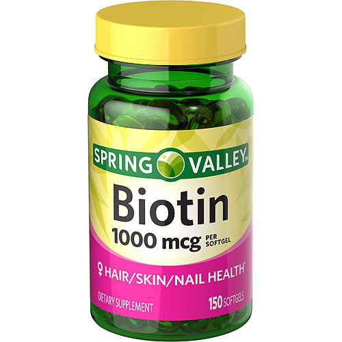 Spring Valley Biotin Softgels, 1000 mcg, 150 count