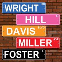 Personalized Colorful Street Sign