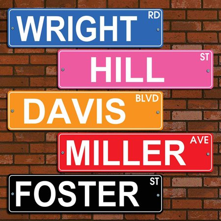 Personalized Colorful Street (Custom Street Sign)