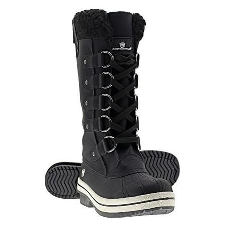 Waterproof Womens Outdoor Boot (Arctic Shield Women's Warm Comfortable Insulated Waterproof Durable Outdoor Winter Snow Boots)