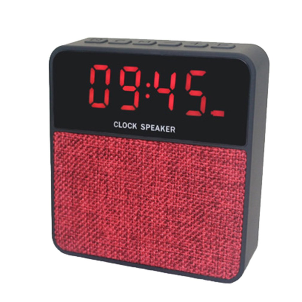 JT2605 Wireless Bluetooth Speaker LED Alarm Clock Hands-free Call Support TF Card Radio FM Receiver Time Display Stereo Music