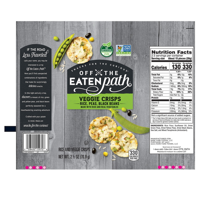 Off The Eaten Path 28400167772 Off The Eaten Path Veggie Crisps Sea Salt 2.5 Ounce/24